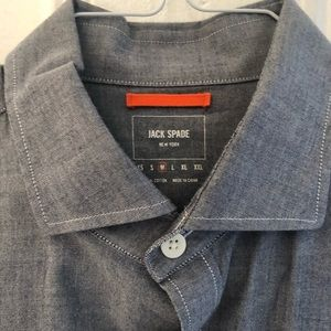 Jack Spade Chambray Spread Collar Dress Shirt